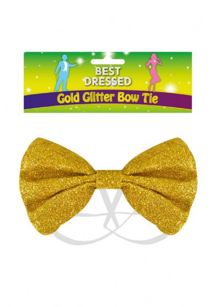 Bow Tie Yellow Glitter